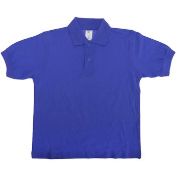 Vêtements Enfant Polos manches courtes B And C PK486 Bleu royal