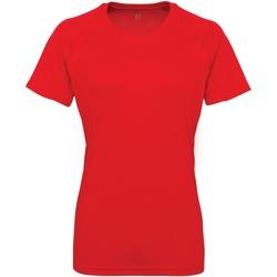Vêtements Femme T-shirts manches courtes Tridri Panelled Rouge feu