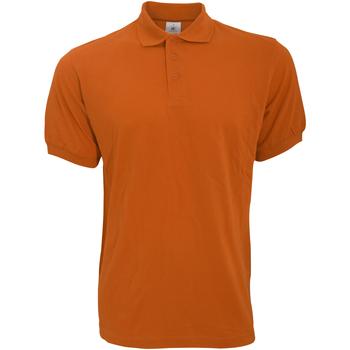 Vêtements Homme Polos manches courtes B And C Safran Orange citrouille