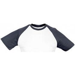 Vêtements Homme T-shirts manches courtes Sols Contrast Blanc/bleu marine