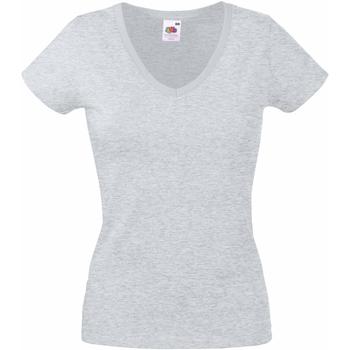 Vêtements Femme T-shirts manches courtes Fruit Of The Loom 61398 Gris chiné