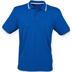 Vêtements Homme Polos manches courtes Henbury HB482 Bleu roi/Blanc