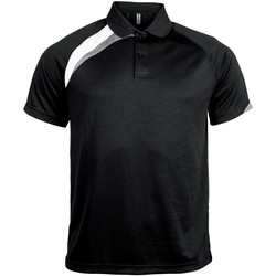 Vêtements Homme Polos manches courtes Kariban Proact Proact Noir/Blanc/Gris