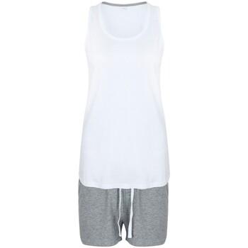 Vêtements Femme Pyjamas / Chemises de nuit Towel City TC052 Blanc/Gris