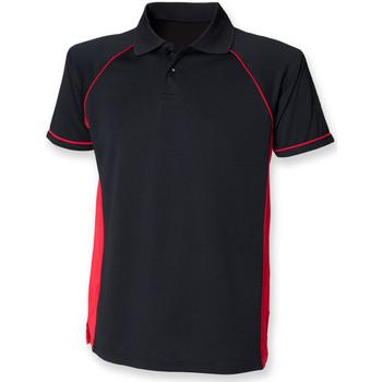 Vêtements Homme Polos manches courtes Finden & Hales Performance Noir/Rouge