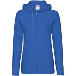 Vêtements Femme Sweats Fruit Of The Loom Lightweight Bleu roi