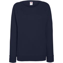 Vêtements Femme Sweats Fruit Of The Loom Raglan Bleu marine profond