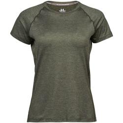 Vêtements Femme T-shirts manches courtes Tee Jays Cool Dry Olive chiné