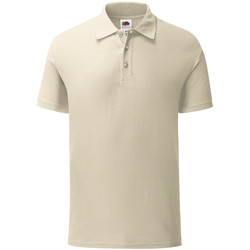 Vêtements Homme Polos manches courtes Fruit Of The Loom Iconic Beige