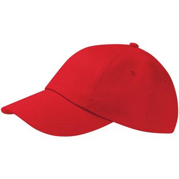 Accessoires textile Casquettes Beechfield Drill Cap Rouge