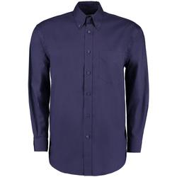 Vêtements Homme Chemises manches longues Kustom Kit Oxford Bleu nuit