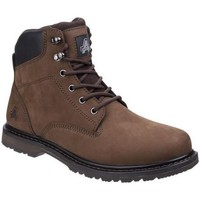 Chaussures Homme Boots Amblers Lace Up Marron