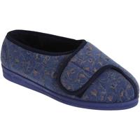 Chaussures Femme Chaussons Comfylux Floral Bleu