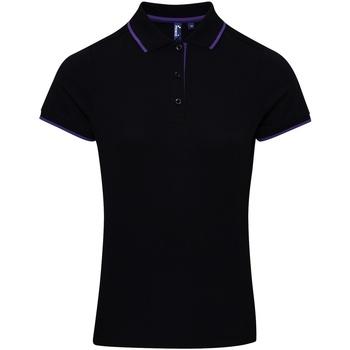 Vêtements Femme Polos manches courtes Premier Coolchecker Noir/Violet