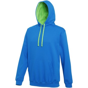 Vêtements Sweats Awdis Hooded Bleu saphir / vert citron