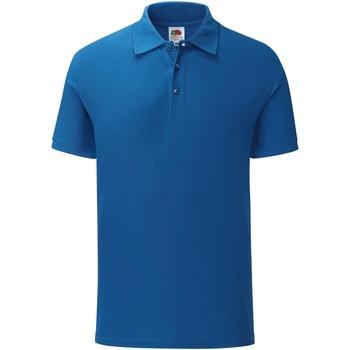 Vêtements Homme Polos manches courtes Fruit Of The Loom SS221 Bleu roi