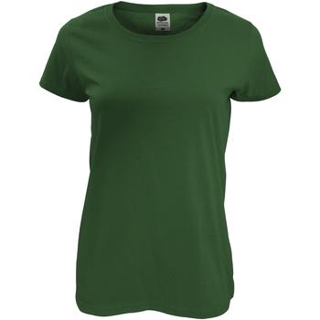 Vêtements Femme T-shirts manches courtes Fruit Of The Loom Original Vert bouteille