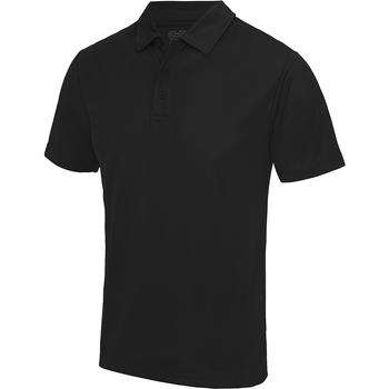 Vêtements Homme Polos manches courtes Awdis JC040 Noir