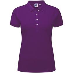Vêtements Femme Polos manches courtes Russell Polo stretch à manches courtes BC3256 Violet