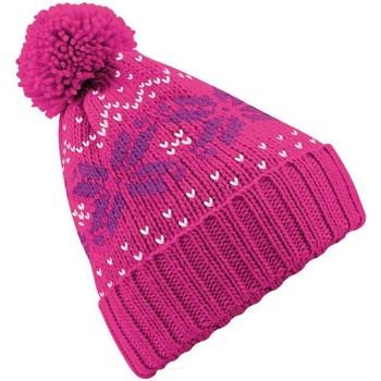Accessoires textile Bonnets Beechfield Beanie Fuchsia/magenta