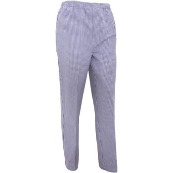 Vêtements Homme Pantalons fluides / Sarouels Premier PR552 Carreaux blancs et bleu marine