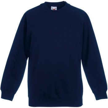 Vêtements Enfant Sweats Fruit Of The Loom Raglan Bleu marine foncé