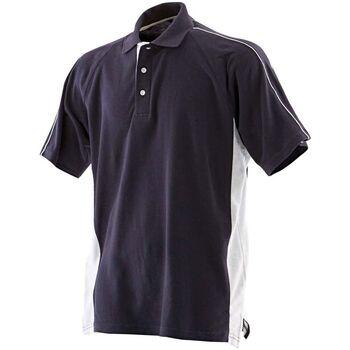 Vêtements Homme Polos manches courtes Finden & Hales LV322 Bleu marine/Blanc