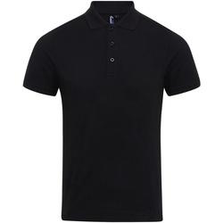 Vêtements Homme Polos manches courtes Premier PR630 Noir