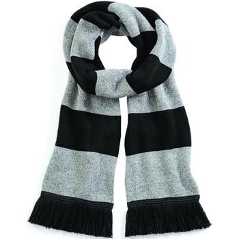 Accessoires textile Femme Echarpes / Etoles / Foulards Beechfield Varsity Noir/Gris
