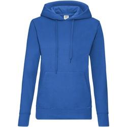 Vêtements Femme Sweats Fruit Of The Loom Hooded Bleu roi