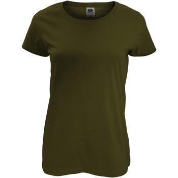 Vêtements Femme T-shirts manches courtes Fruit Of The Loom Original Olive