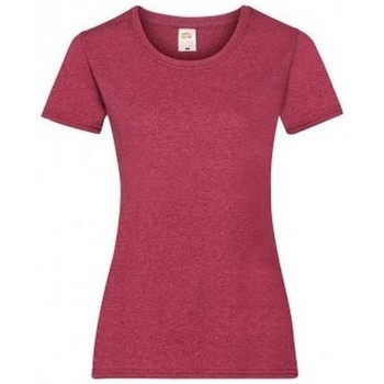 Vêtements Femme T-shirts manches courtes Fruit Of The Loom 61372 Rouge chiné