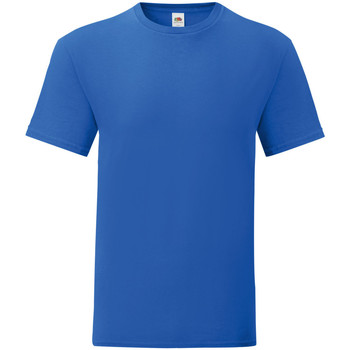Vêtements Homme T-shirts manches courtes Fruit Of The Loom Iconic Bleu roi