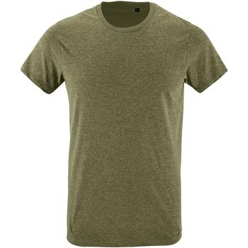 Vêtements Homme T-shirts manches courtes Sols Slim Fit Vert kaki chiné
