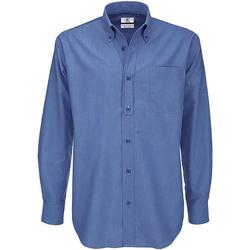 Vêtements Homme Chemises manches longues B And C Oxford Bleu