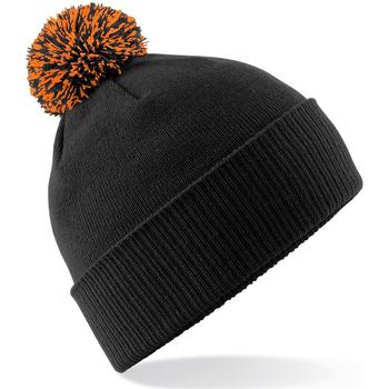 Accessoires textile Fille Bonnets Beechfield Snowstar Noir / orange