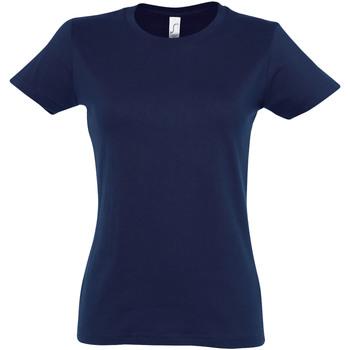 Vêtements Femme T-shirts manches courtes Sols Imperial Bleu marine vif