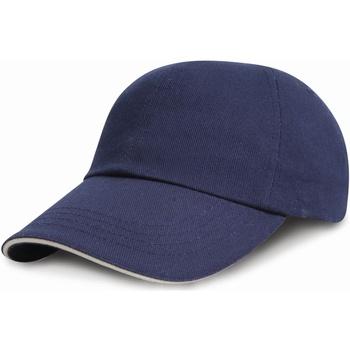 Accessoires textile Enfant Casquettes Result Brushed Bleu marine/Blanc