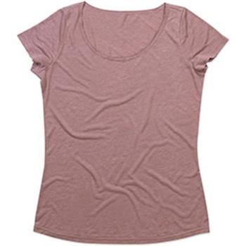 Vêtements Femme T-shirts manches courtes Stedman Stars  Vieux rose