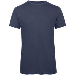 Vêtements Homme T-shirts manches courtes B And C Favourite Bleu marine chiné