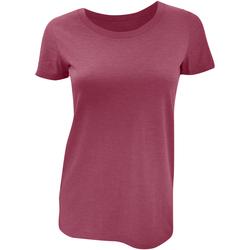 Vêtements Femme T-shirts manches courtes Bella + Canvas Triblend Bordeaux