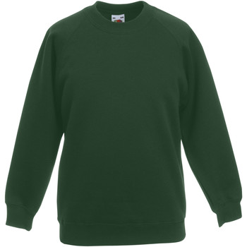 Vêtements Enfant Sweats Fruit Of The Loom Raglan Vert bouteille