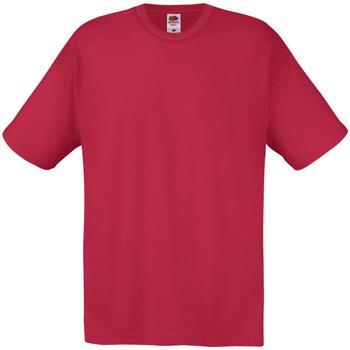 Vêtements Homme T-shirts manches courtes Universal Textiles 61082 Rouge foncé