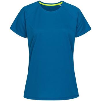 Vêtements Femme T-shirts manches courtes Stedman Raglan Bleu