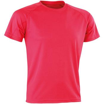 Vêtements Homme T-shirts manches courtes Spiro Aircool Rose vif