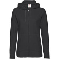Vêtements Femme Sweats Fruit Of The Loom Lightweight Noir