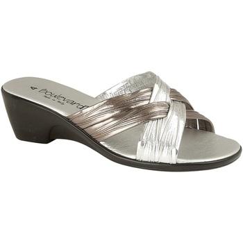 Chaussures Femme Sandales et Nu-pieds Lucia Mule Etain/Argent