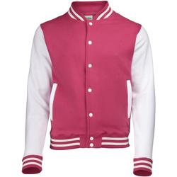 Vêtements Homme Blousons Awdis Varsity Rose/Blanc