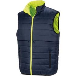 Vêtements Homme Gilets / Cardigans Result Safety Jaune fluo / bleu marine
