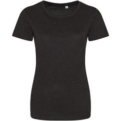 Vêtements Femme T-shirts manches courtes Awdis Girlie Noir chiné